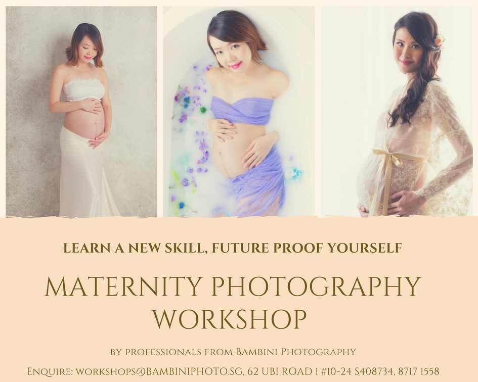 Studio maternity photography workshop singapore by working professionals bambini photography maternity photography newborn photography children