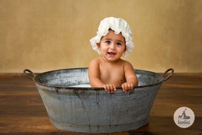 Sitters Baby Milkbath Photoshoot