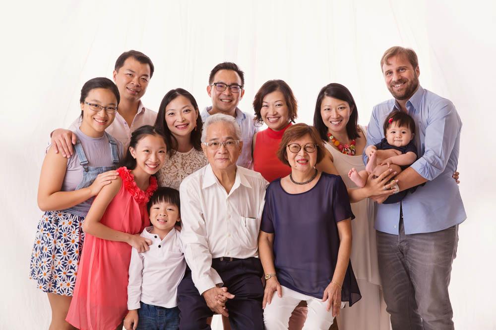Generational big family portrait photography