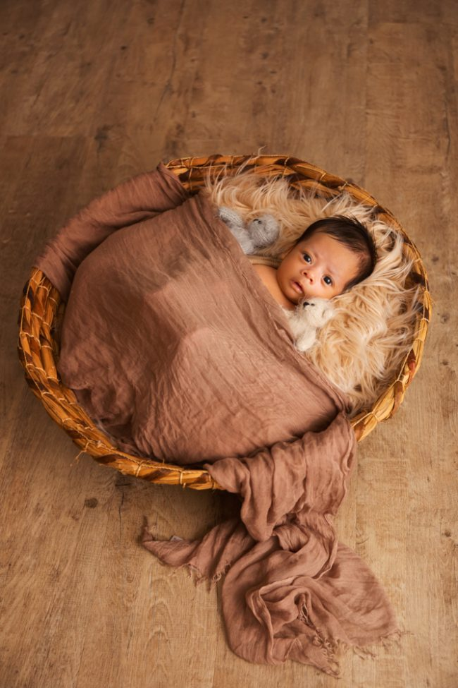 2 Months Baby Basket Shoot