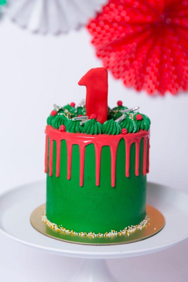 Christmas Cake Smash Cake