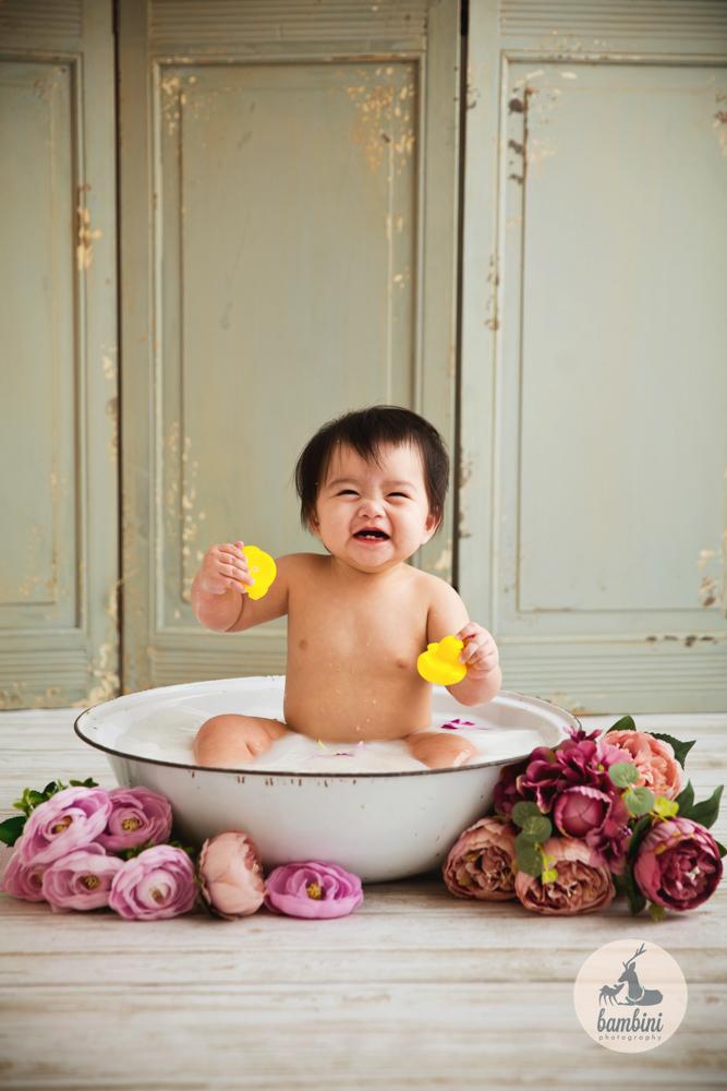 6 Months Baby Milk Bath Studio