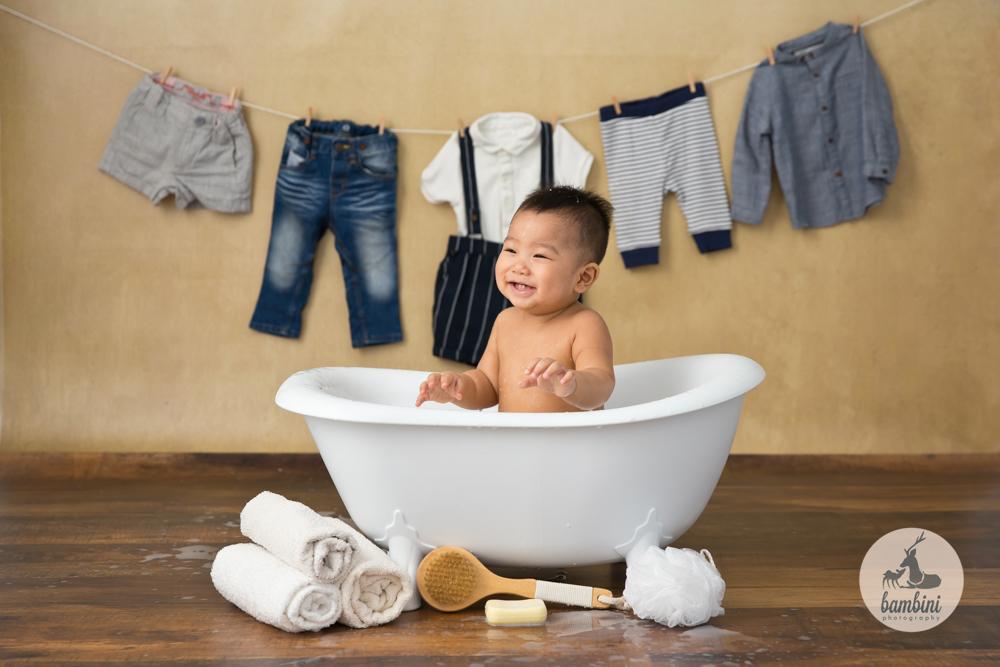 6 Months Baby Boy Milkbath Photoshoot