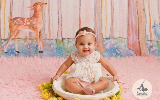 Baby Milestone Sitter Photoshoot