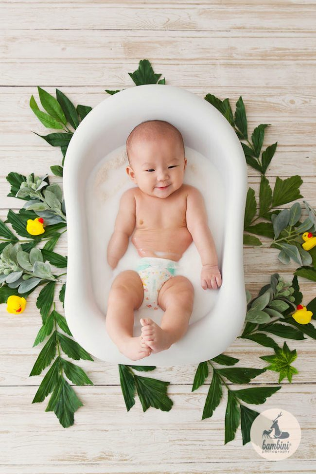 Baby Milk Bath Photography