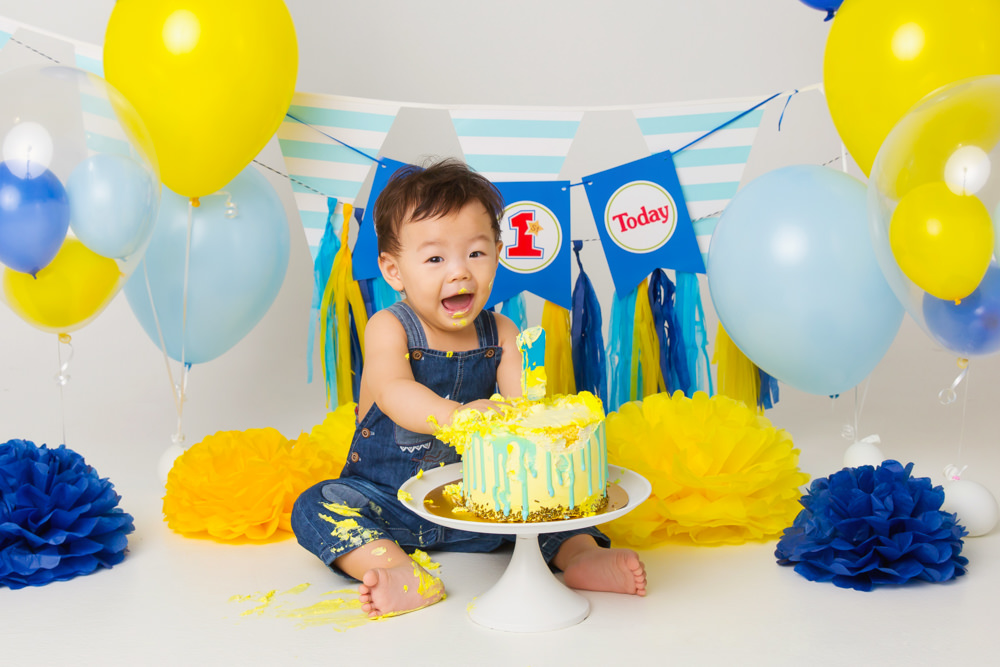 Awe Inspiring 5 Tips For A Great Cake Smash Photography For Your One Year Old Funny Birthday Cards Online Aeocydamsfinfo