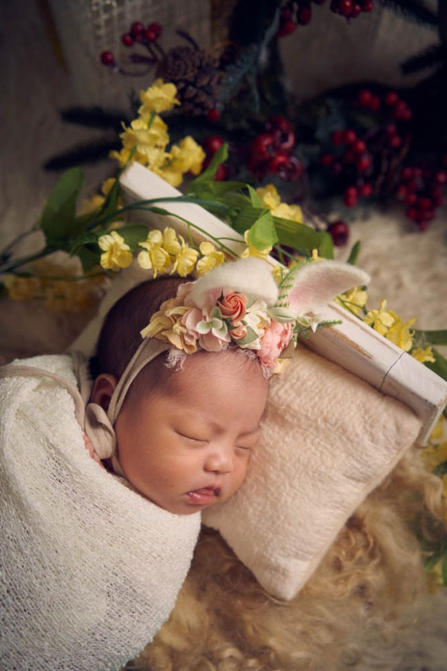 Christmas Newborn Studio Photography