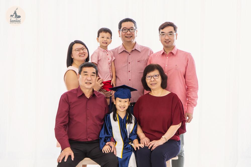 Family and Kindergarten Graduation Photoshoot