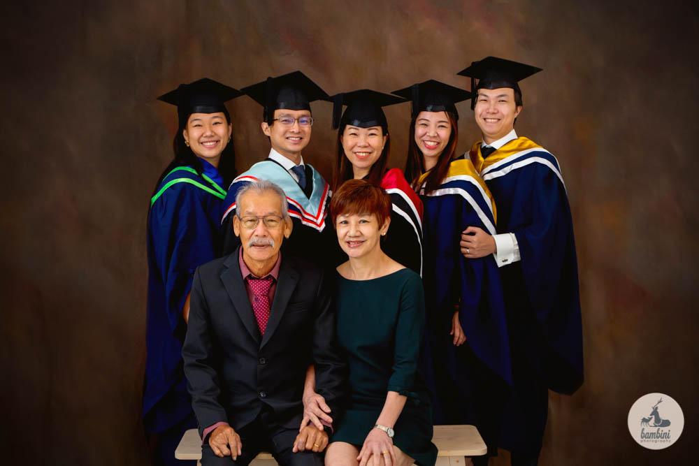 Graduation and family portrait
