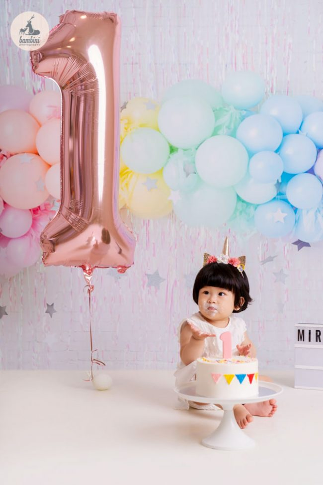 one year old birthday shoot