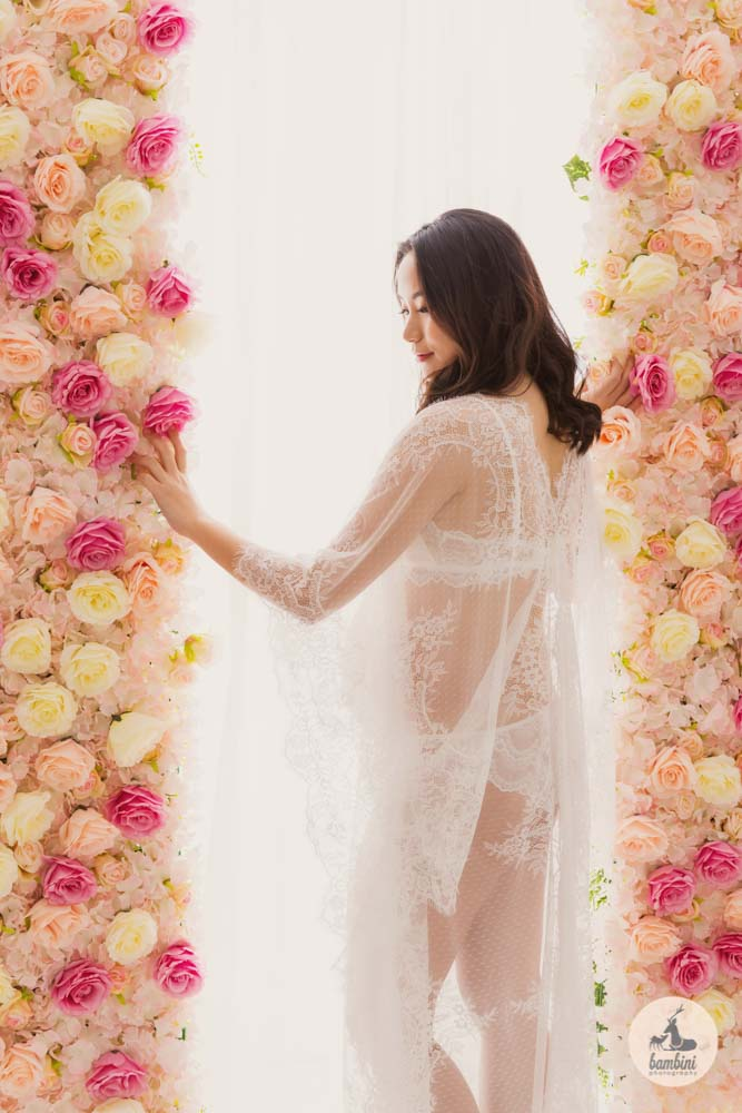 Pregnancy Photography Flower wall