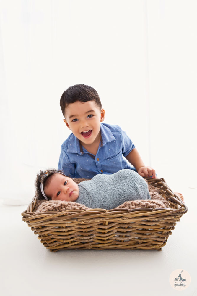 Sibling and Newborn Photoshoot