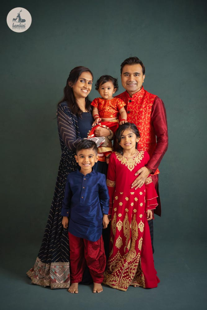 Traditional Costume Family portrait in studio