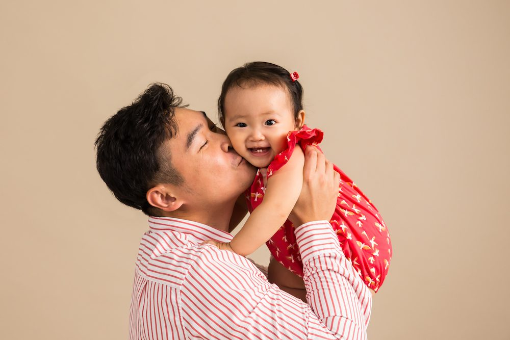 baby and daddy photoshoot