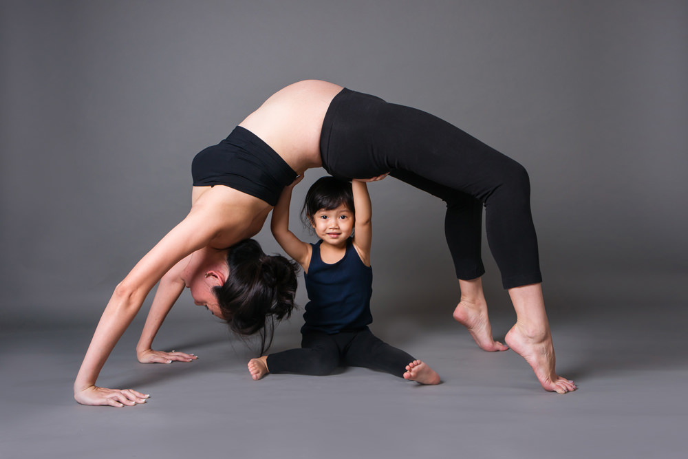 Yoga Mommy | Maternity Studio Photography